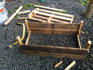 Starting the vegetable planter box