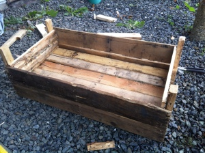 garden planter box almost finished
