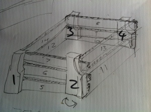 design sketch garden planter